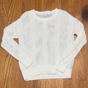 white gap sweater/beach cover up (NEVER BEEN WORN)